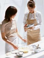 料理中の写真