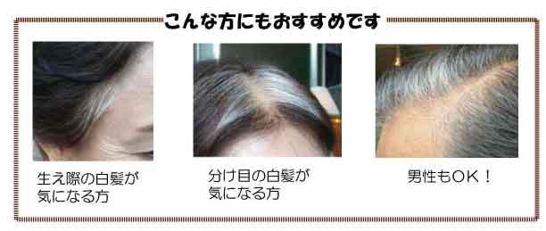 マジカルアクアヘアファンデーション髪
